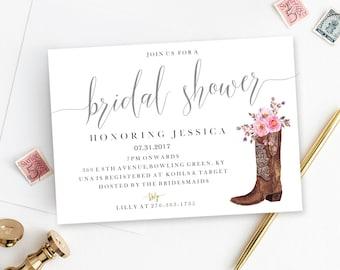 Digital Printable Download Western Cowboy Cowgirl Bridal
