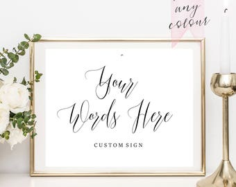 Custom Wedding Signs Etsy