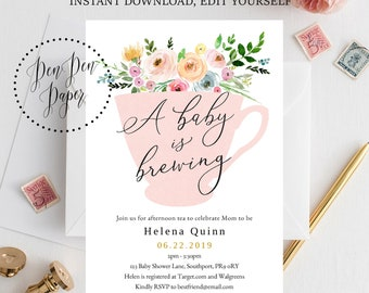 Afternoon Tea Invite Etsy