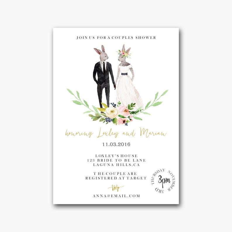 Couples Wedding Shower Invite Coed Wedding Shower Invitation Etsy
