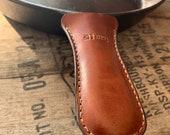 Cast Iron Skillet Handle Cover Cast Iron Handle Cover Leather Cast Iron Skillet Leather Pot Handle Leather Handle Cover Pan Handle