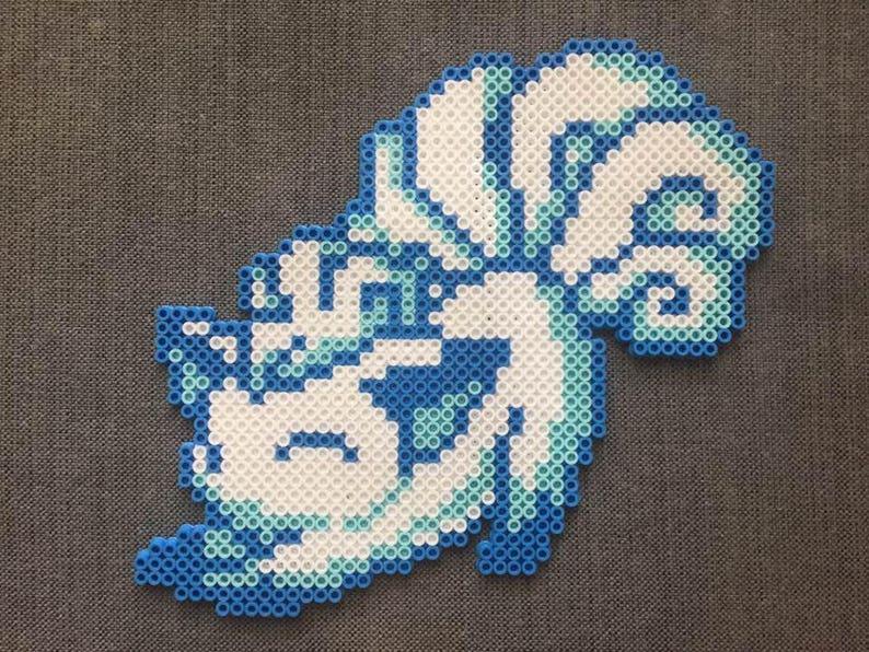 Pokémon Stretching Alolan Vulpix Perler Bead Pattern