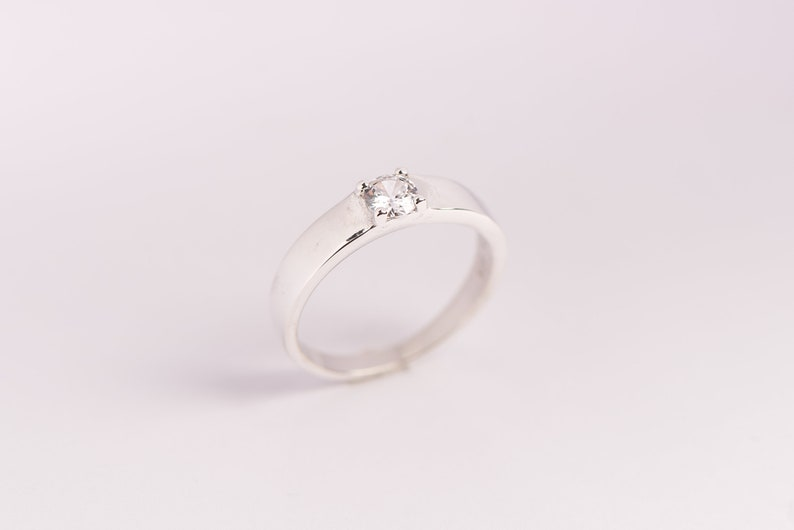 Statement Ring Promise Ring Gift for her Zircon Rings for Women in Gold Best Friend Gift 925 Sterling Silver ring