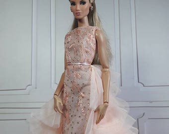 "THE PASTEL GOWN - Fashion for Fr2, Barbie, Silkstone and same size 12"" doll"