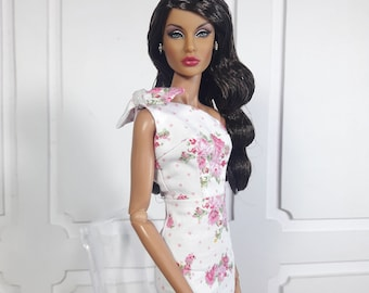 "SUMMER BLOSSOM - Look 1 - Fashion for FR2, Barbie, Silkstone and same size 12"" doll"