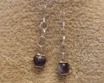 amythyst earrings