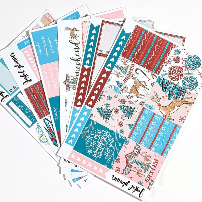 CHRISTMAS WONDER planner stickers made for erin condren life planner eclp mambi happy planner Christmas planner stickers weekly kit