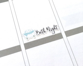 Bath planner sticker for ECLP Erin Condren Life Planner or MAMBI Happy Planner Ready To Ship!