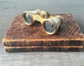 Vintage Mother of Pearl Opera Glasses, initial R, Evening Entertainment Binoculars Vintage