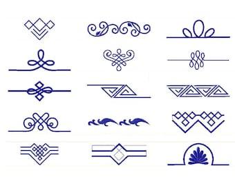 15 designs! Machine embroidery designs elegant borders