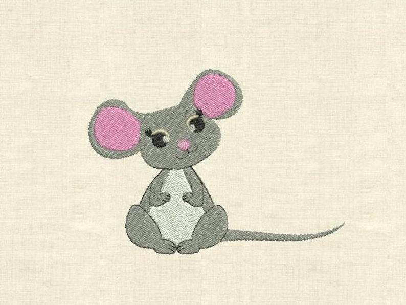 Mouse Di Macchina Ricamo Disegni Simpatici Animali Etsy