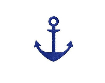Machine embroidery design Anchor Marine Navy