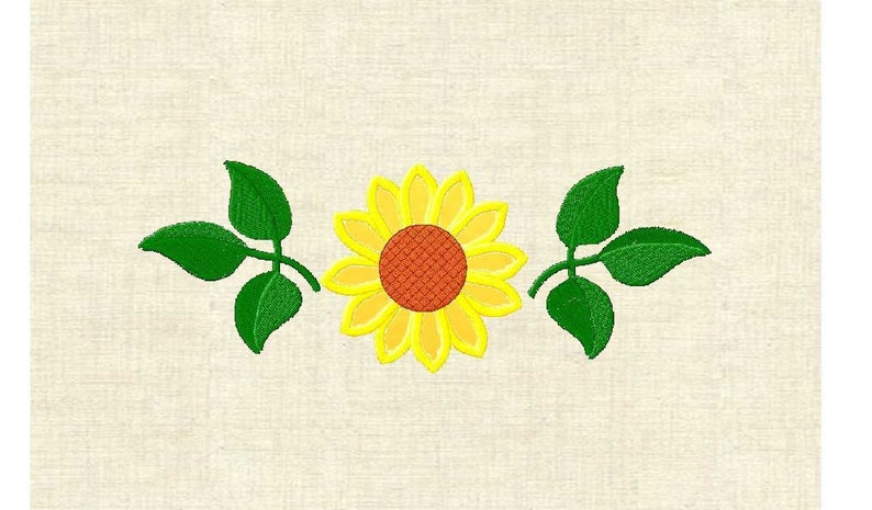 Machine embroidery designs flowers applique flower sunflower etsy