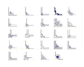 24 designs! Machine embroidery designs corners