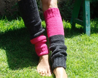 3dce3cf4a Wool Leg warmers - Knit Yoga Accessories - Knitted Leg warmers - Warm Gift  - Womens Leg Warmers