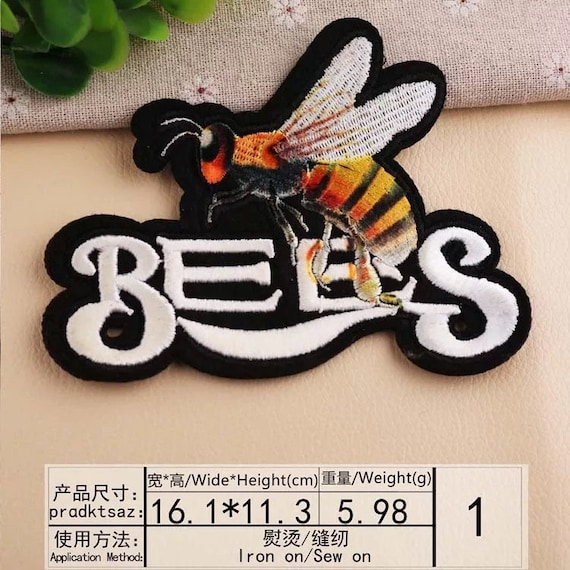 bee patch large patch back patch snake patch backpack decorate iron on  patch sew on patch