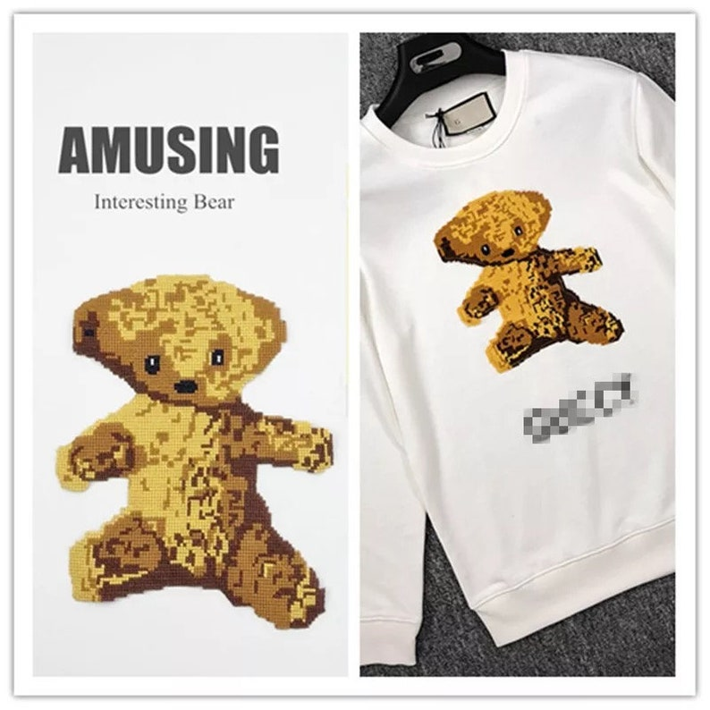 cute bear need to sew patch back patch animal patch backpack decorate iron  on patch sew on patch