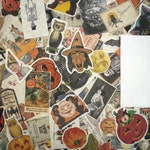 25 Vintage Halloween Ephemera Reproduction Pieces Lot, Halloween Scrap Pack for Collage Mixed Media, Halloween ATCs, Greeting Cards