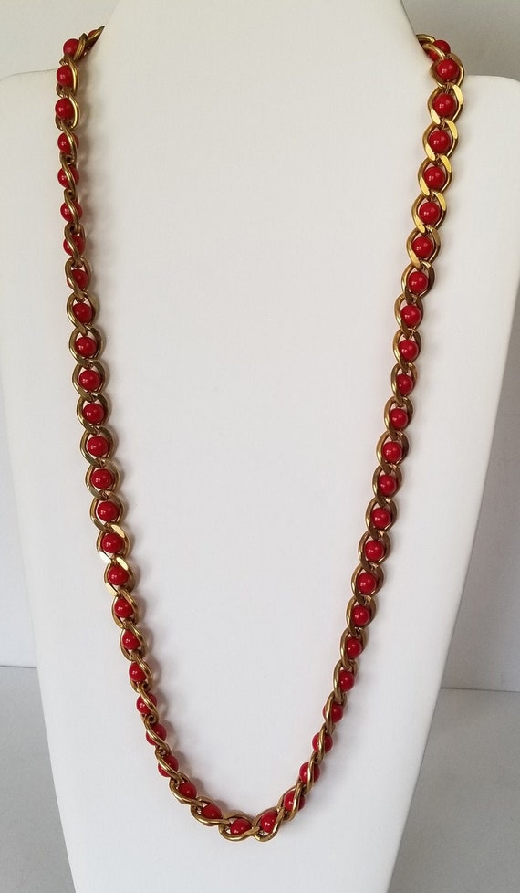 Napier Faux Coral Statement Necklace, Napier Brush