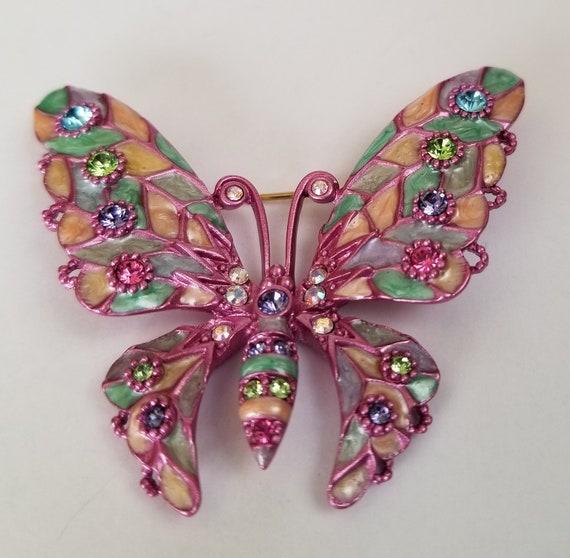 Butterfly brooch, Joan Rivers Enamel Butterfly Bro