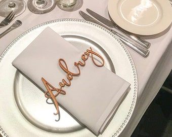 200 Pk | Personalised Wedding Place Cards | Guest Names |  Laser Cut Names | Custom Wedding Signs | Wooden Place Names | Arcylic Place Names