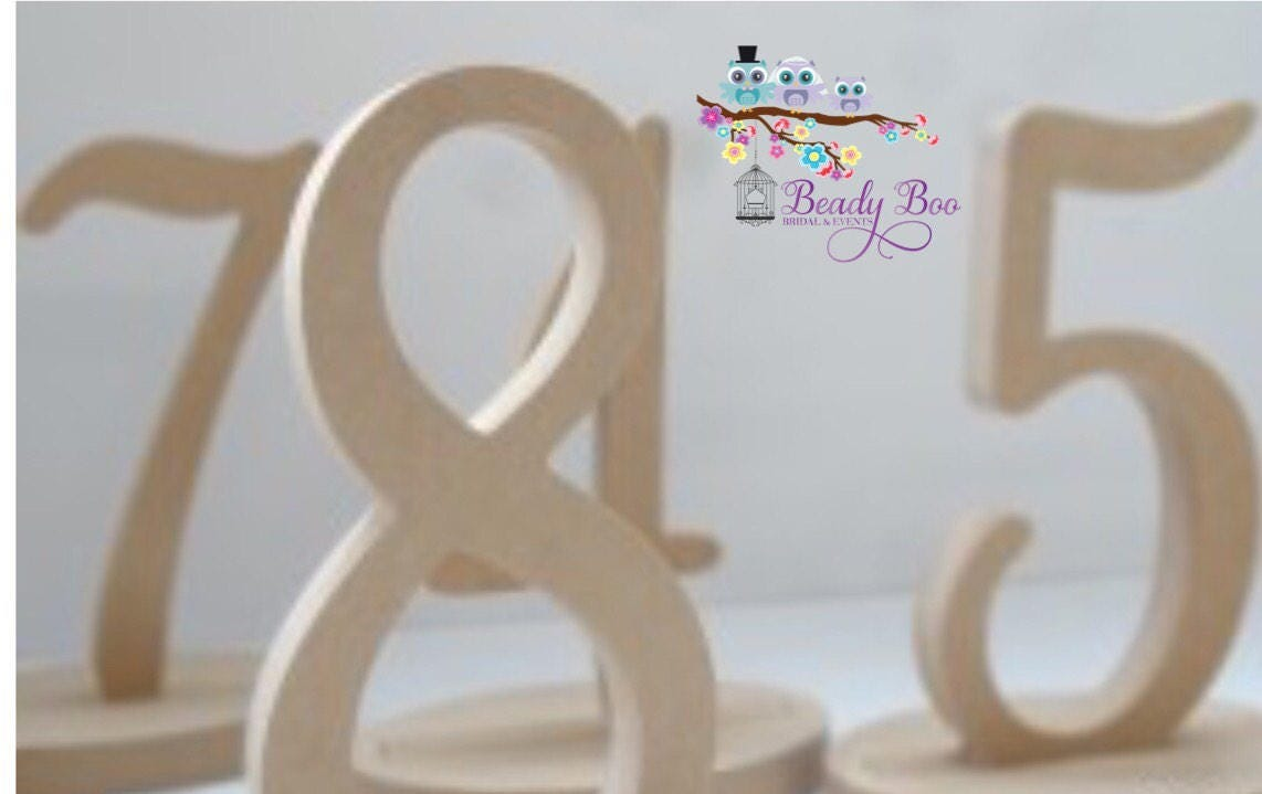 Wooden Table Numbers   Individual Table Numbers   Wedding Table ...
