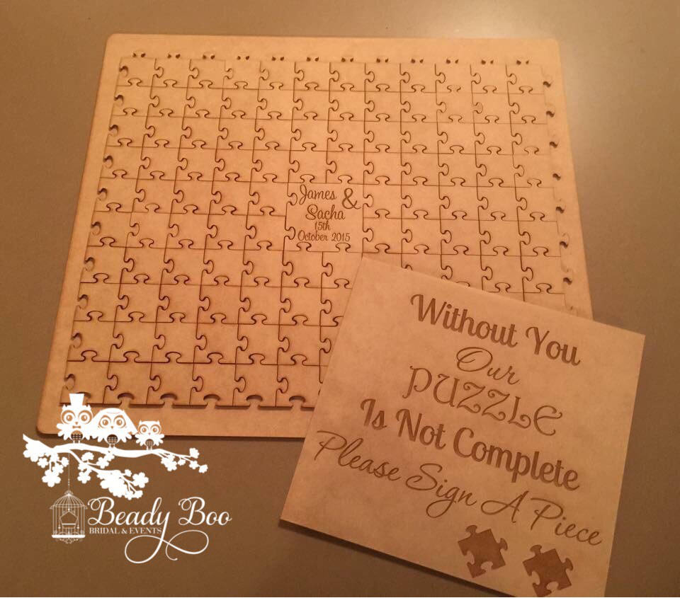 Wedding Guest Book Alternative Wedding Guest Book Wooden Puzzle