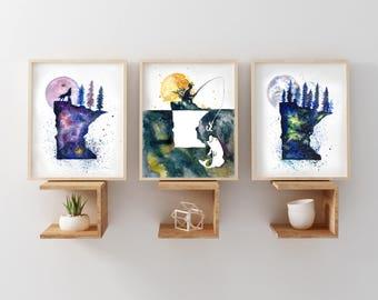 Set of Any Three Art Prints