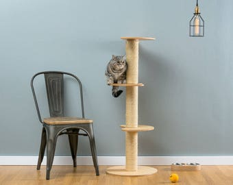 Sisal cat tree Ozzy Natural   WORLDWIDE SHIPPING   Modern Cat Furniture   Climb Tree   Shelf   Toy   Bed   House   Tower