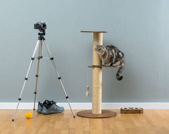 Sisal cat tree Marvin Brown   WORLDWIDE SHIPPING   Modern Cat Furniture   Climb Tree   Shelf   Toy   Bed   House   Tower