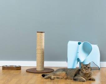 Sisal cat scratcher Loki Brown   WORLDWIDE SHIPPING   Modern Cat Furniture   Climb Tree   Shelf   Toy   Bed   House   Tower