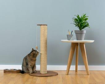Sisal cat scratcher Hamilton Brown   WORLDWIDE SHIPPING   Modern Cat Furniture   Climb Tree   Shelf   Toy   Bed   House   Tower