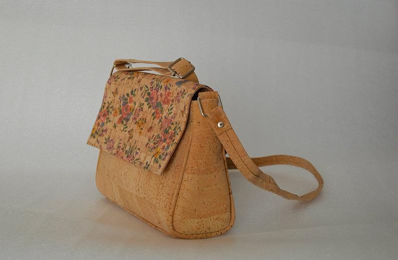44e30ea2ba5 Cork crossbody bag shoulder foldover bag clutch vegan leather | Etsy