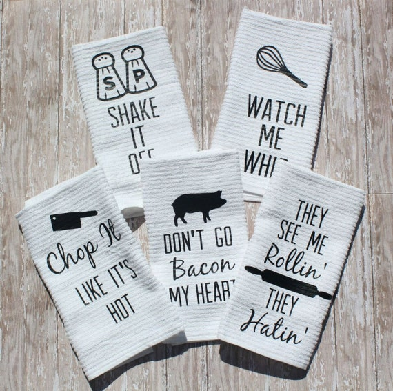 Superbe Fun Kitchen Towels Set Of 5 | Etsy