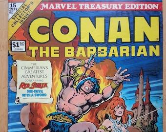 Conan the Barbarian Marvel Treasury Edition #15 Vintage Comic Book - 1977