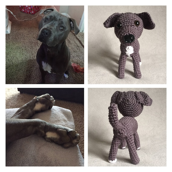 Custom Crochet Pitbull Stuffed Staffordshire Terrier Etsy