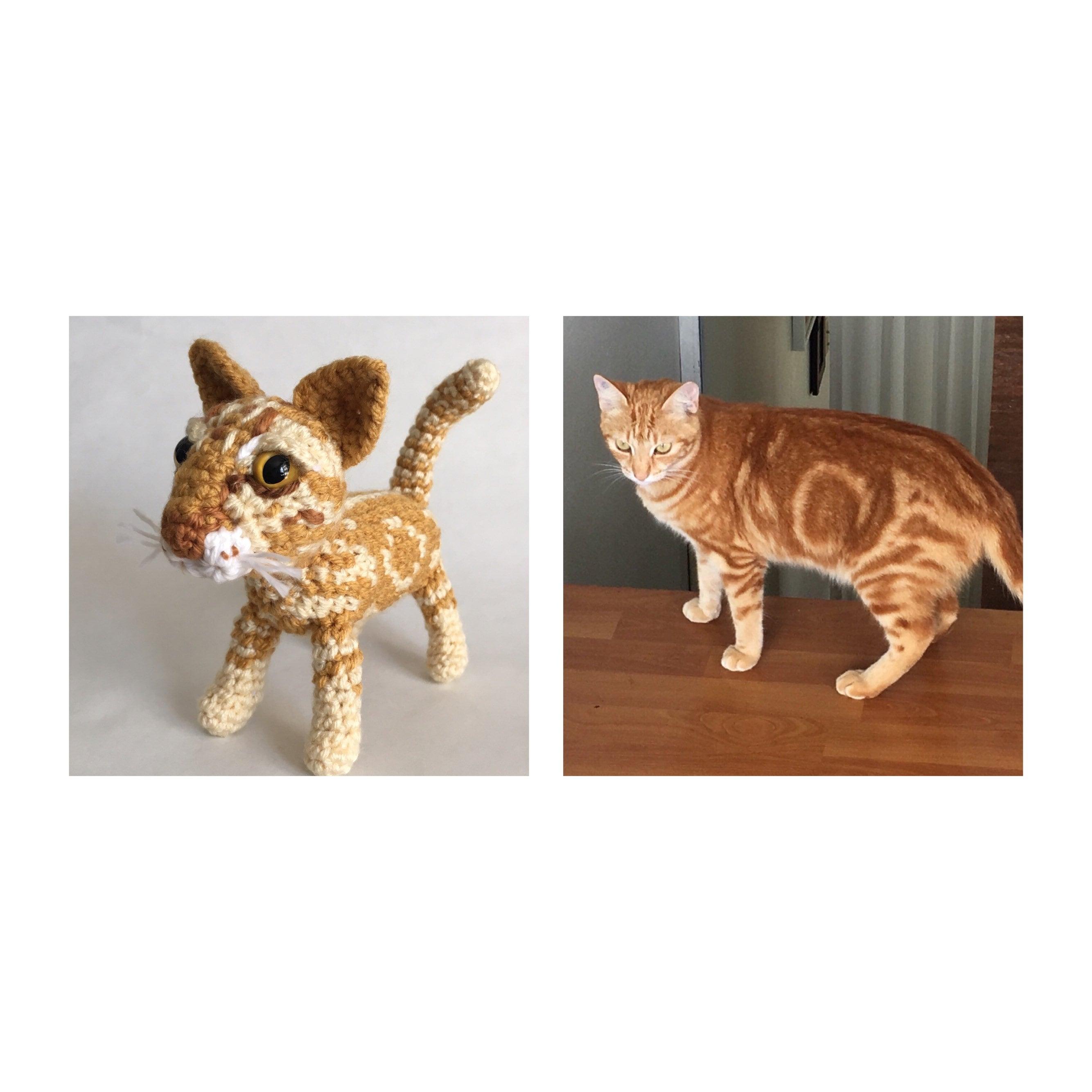 Custom Tabby Cat Crochet Tabby Cat Custom Pet Pet Replica Etsy
