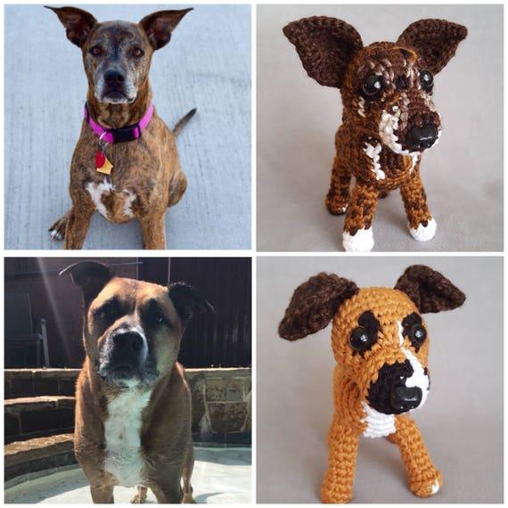 Custom Crochet Dog Custom Pet Replica Stuffed Animal Plush Etsy