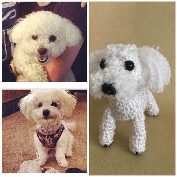 Maltese Plush Puppy Amigurumi Dog Crochet Dog Stuffed by Inugurumi ... | 570x570