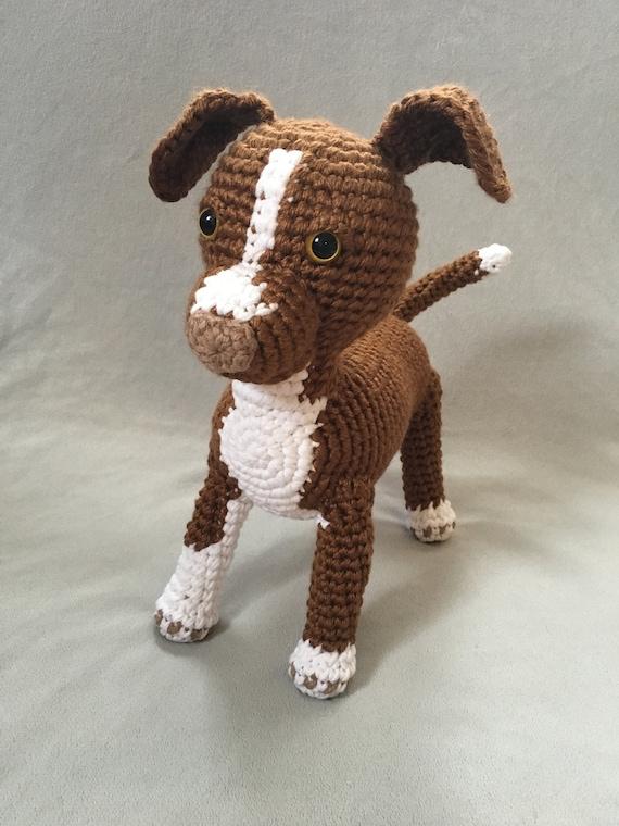 Custom Crochet Dog Custom Crochet Pitbull Plush Pet Custom Etsy