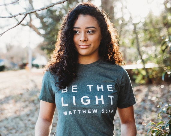 Be The Light Tee // Military Green