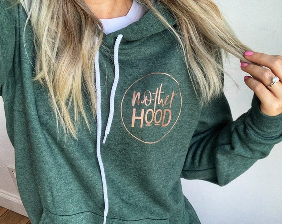Motherhood // Heather Forest Hoodie (Rose Gold or White ink)