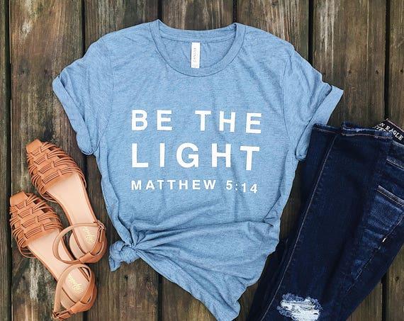 Be The Light Tee // Denim