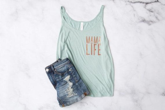 Mama Life // Sage Slouchy Tank