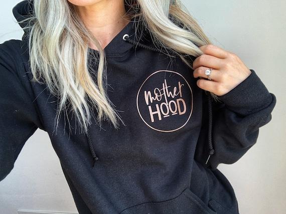 Motherhood // Black Hoodie (Rose Gold or White ink)