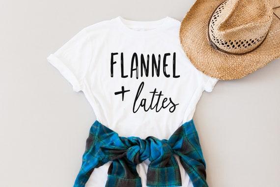 Flannel + Latte // White Crew Tee