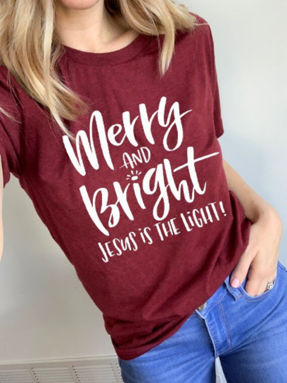 Merry and Bright // Cardinal Tee