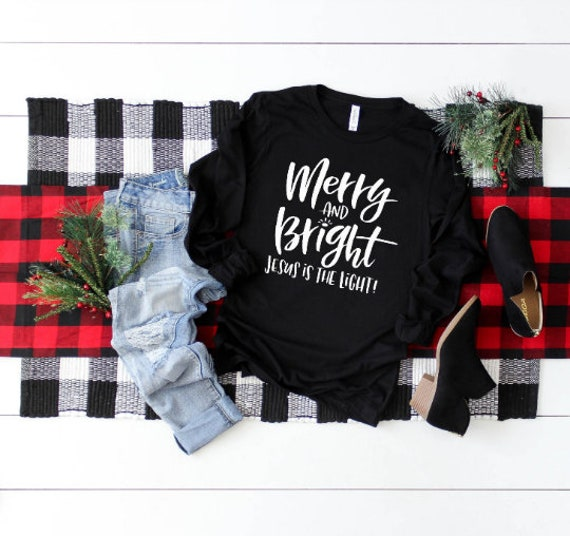 Merry and Bright // Black Long Sleeve