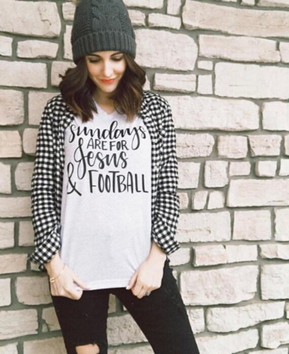 Sundays, Jesus + Football Adult Tee