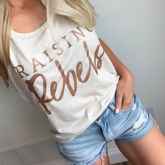 Raising Rebels Tank // Oatmeal + Rose Gold